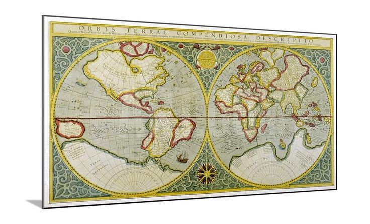 Map of the World by Gerhard Mercator Giclee Print at Art.com - Wood Mount 48 x 36 $233