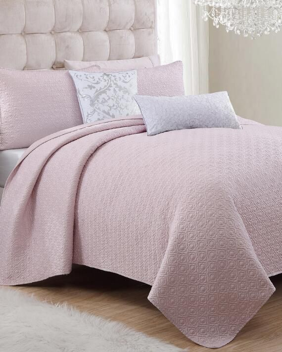 exclusively ours bellagio blush quilt collection an original design from nina campbell the bellagio quilt features an elegant quilted pattern that