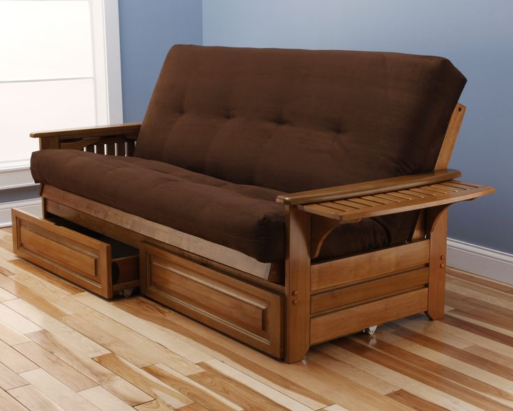 Phoenix Suede Storage Drawers Futon and Mattress