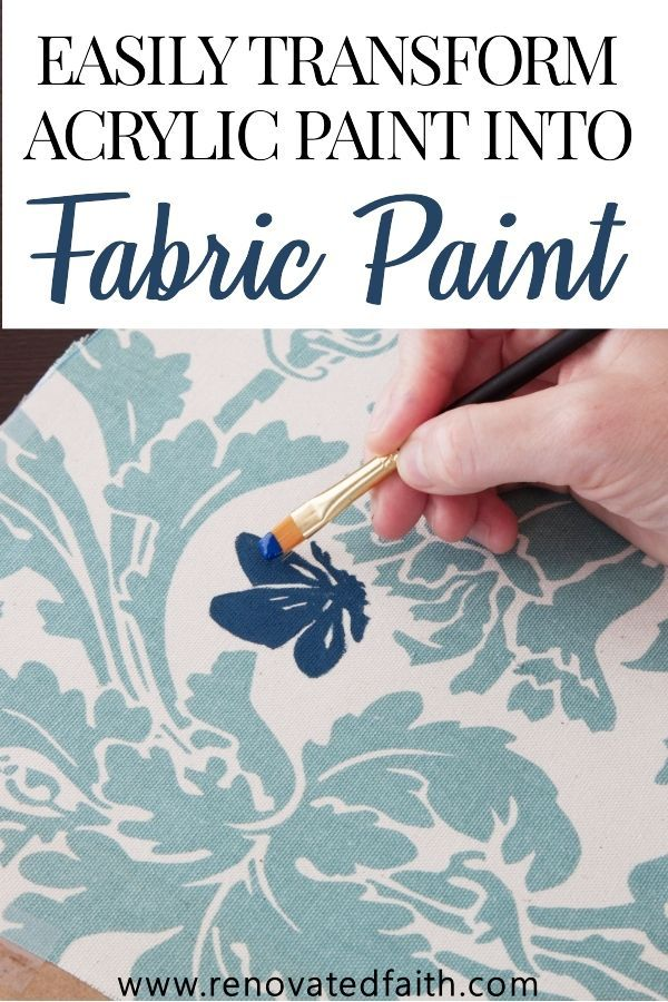 How To Make Acrylic Paint On Fabric Permanent The Best Fabric Paint Acrylic Paint On Fabric Fabric Painting Framed Fabric Wall Art