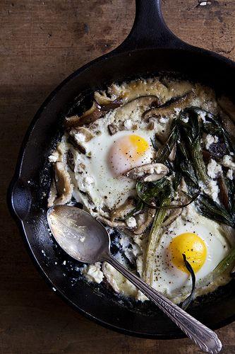 Spring Baked Eggs   Nicole Franzen by Nicole Franzen Photography, via Flickr