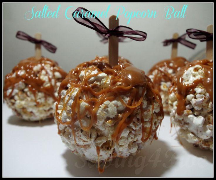 Salted Caramel Popcorn Balls  #WerthersCaramel and #Caramel