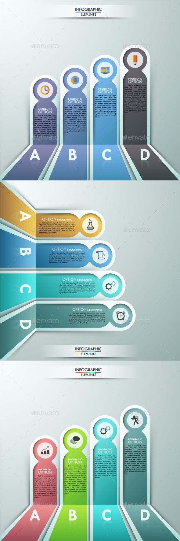 Modern Infographics Paper Template (3 Items) #design Download: http://graphicriver.net/item/modern-infographics-paper-template-3-items/13234221?ref=ksioks