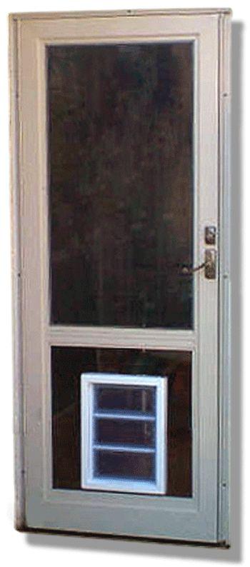 9 Best Screen Door With Dog Door Images On Pinterest Screen Doors