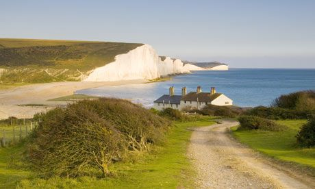 Seven Sisters chalk cliffs in East Sussex