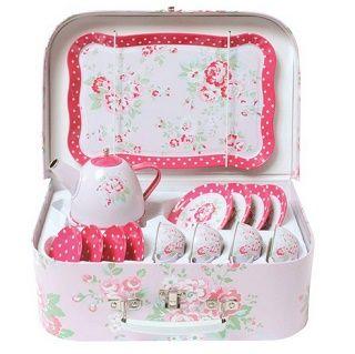 Vintage Tea Set Roses $34.95 #sweetcreations #baby #toddlers #kids #teaset