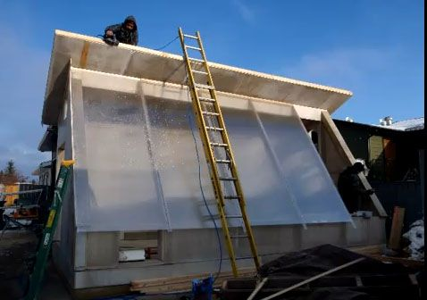 Passive Solar Greenhouse    As a rule of thumb, to optimize the glazing angle for winter growing take your latitude and add 15 degrees