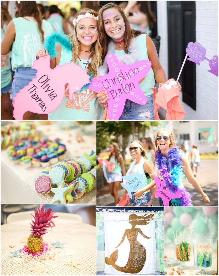 MERMAID for each other bid day theme ~ Alpha Delta Pi • Georgia Southern University <3