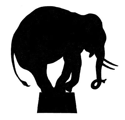 Vector Image Downloads - Circus Elephant Silhouette - The Graphics Fairy