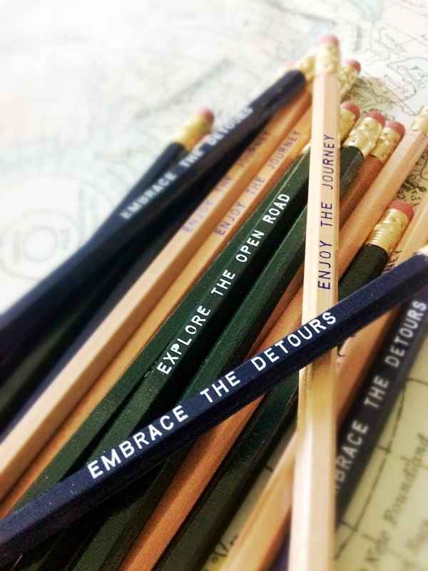 Road Trip Pencils. Perfect for writing in a travel journal! by Earmark