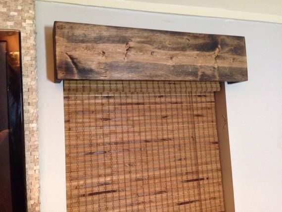 Custom Made Window Valance Rustic Wood Curtain by TheMiteredJoint