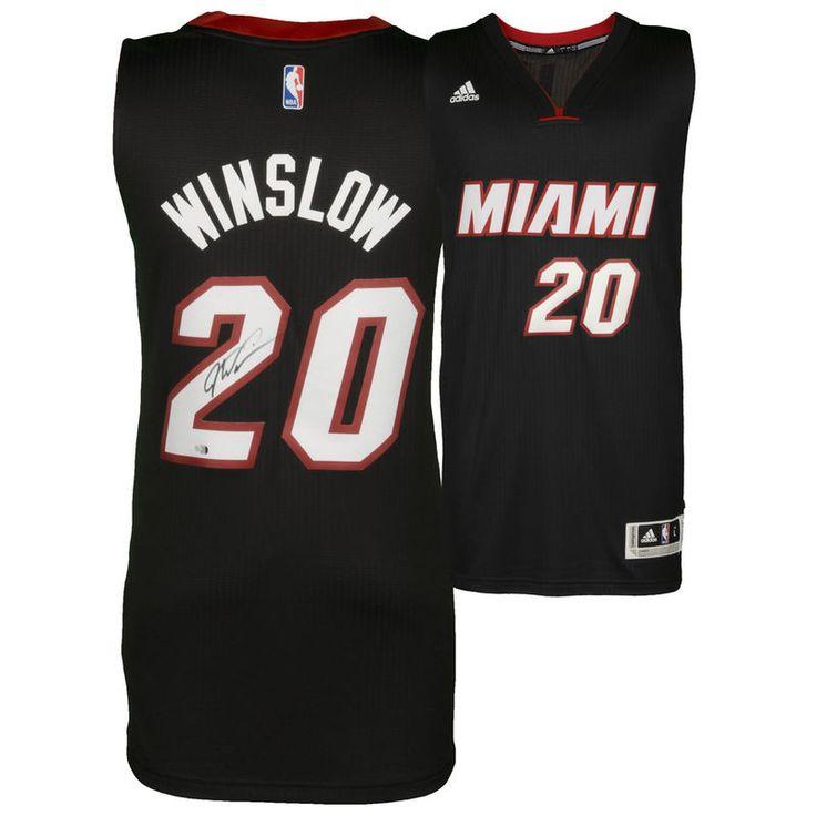 Justise Winslow Miami Heat Fanatics Authentic Autographed Adidas Black Swingman Jersey