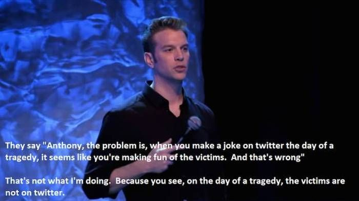 Comedian Anthony Jeselnik Explains Who He's Really Making Fun Of On Twitter (5 pics)
