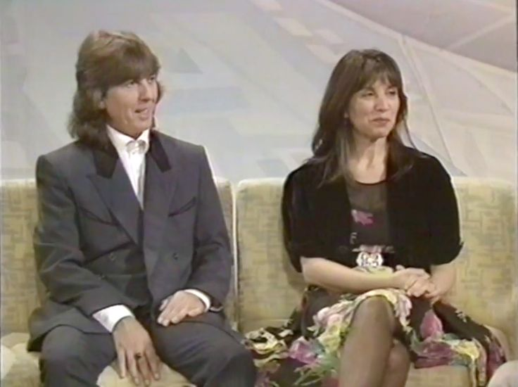 George and Olivia Harrison (and a snippet of Barbara Bach), screen capped from interviews about the Romanian Angel Appeal for Entertainment Tonight in July 1990 (x), and on Wogan on 22 June 1990...