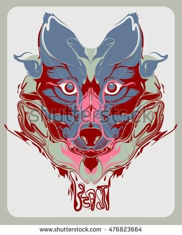 #vector #animal #wolf #beast #trend #tshirt #flat #illustration #art #popular #artist #most #shutterstock #image #