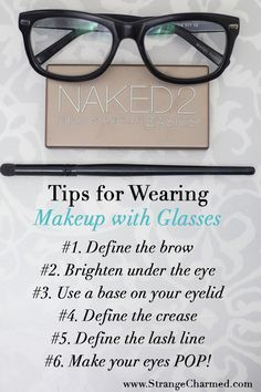 My Tips for Wearing Makeup with Glasses