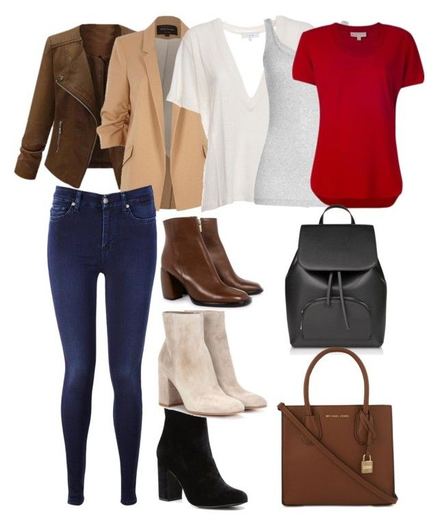 Sin título #12 by julygm93 on Polyvore featuring polyvore, fashion, style, IRO, MICHAEL Michael Kors, Vince, River Island, 7 For All Mankind, Gianvito Rossi, TIBI, Witchery and clothing