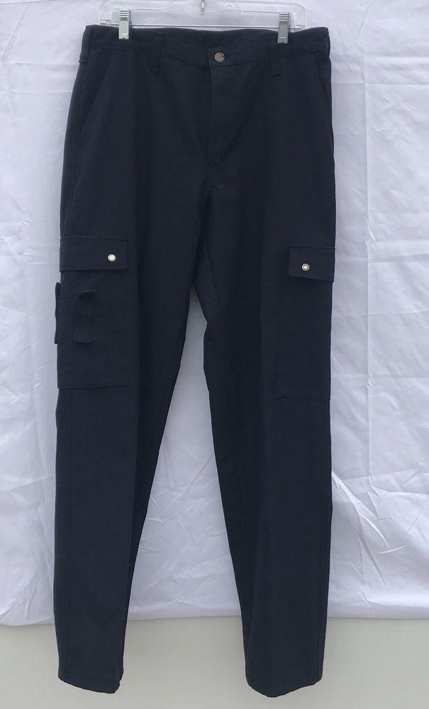 Workrite Nomex Mens Pants size 35X B cut 2112 Dark Blue Navy Fire Retardant #Workrite #Pants