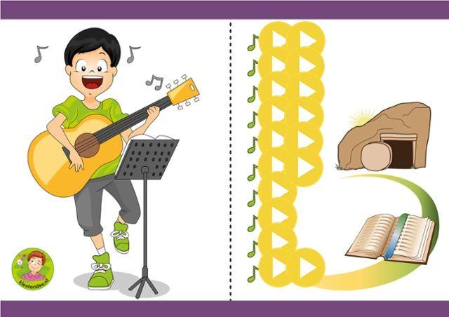 Interactieve liedlijst voor Pasen met kleuters, kleuteridee, powered by ThingLink