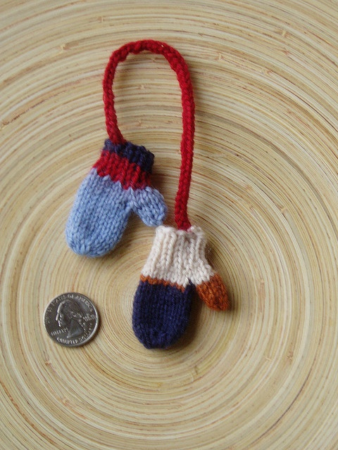Knitted Mini Mittens Christmas Ornaments Crafty
