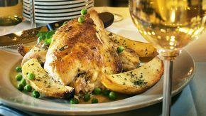 Harry Caray's chicken Vesuvio