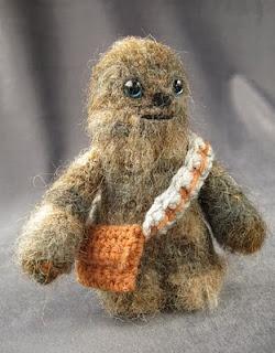 A mini Chewbacca, aka, why you need to learn to crochet.