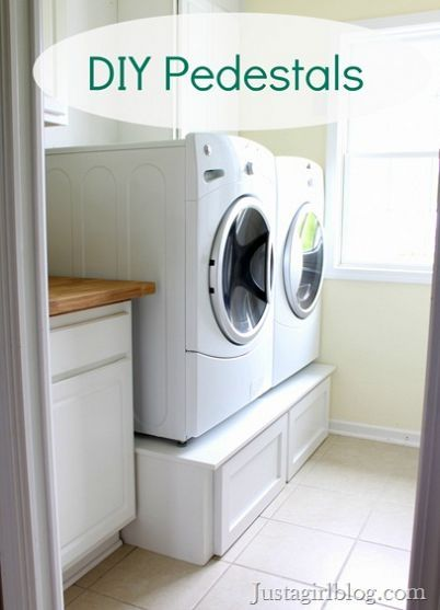 A smart solution for extra storage in the laundry room - By Just A Girl on HomeTalk