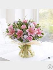 Spring Rose, Lily & Freesia Hand-Tied