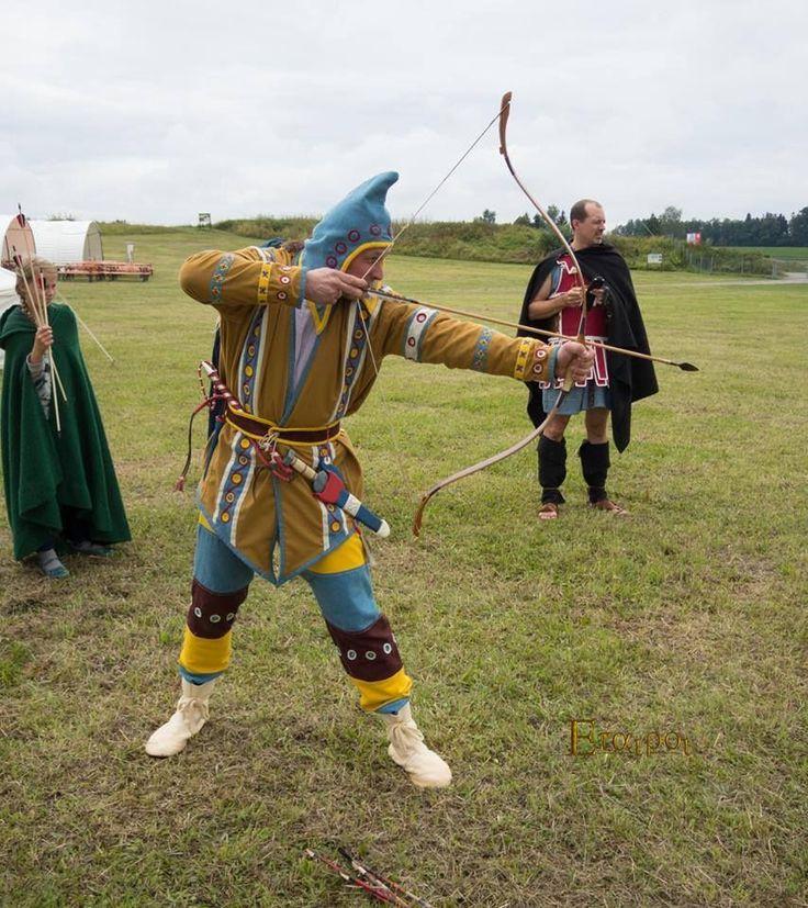 Scythian re-enactment   Roman history. The centurions. Eurasian steppe