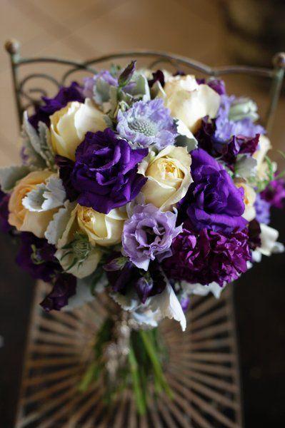 Vintage Ivory Purple Silver White Bouquet Garden Spring Summer Wedding Flowers Photos & Pictures - WeddingWire.com