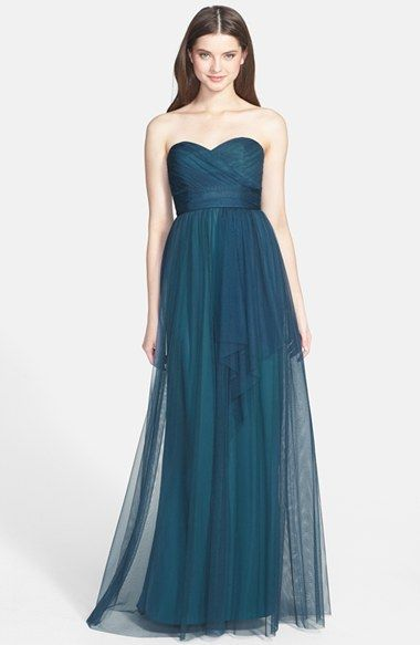 Amsale Draped Tulle Gown | Nordstrom