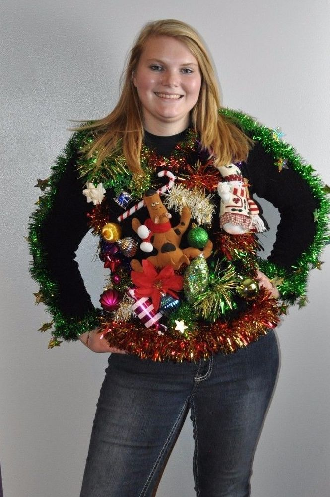 Cheri\'s Ugly Tacky Christmas Sweater SCOOBY-DOO MEDIUM M | ugly ...