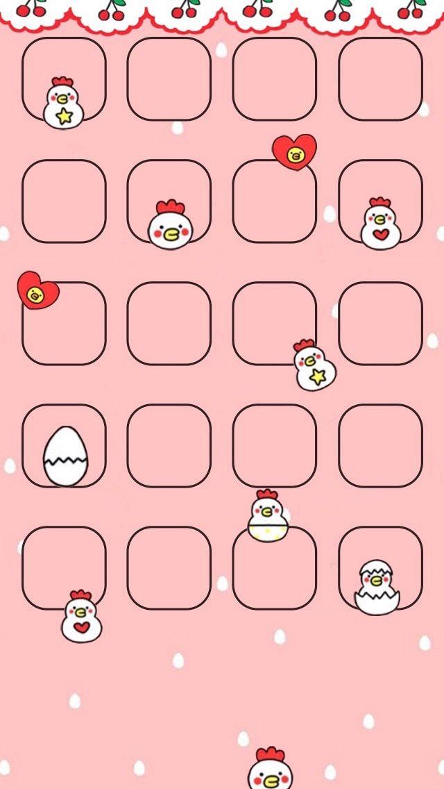 Chicken Homescreen Broken Screen Wallpaper Sanrio Wallpaper Kawaii Wallpaper