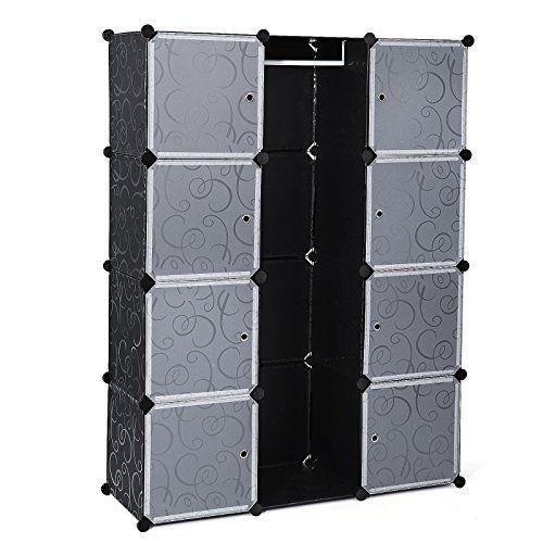 Songmics Armario de almacenaje de ropa Estantería por módulos (estructuras de cubo con puerta, fácil montaje, 145 x 110 x 37cm) LPC30B ✿ ▬► Ver oferta: https://cadaviernes.com/ofertas-de-muebles-almacenaje-cocina/