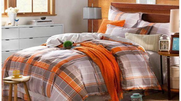 Orange Comforter Set, Gray And Orange Bedding