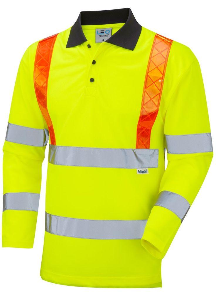 EN/ISO 20471 Class 3 Safety PPE Coolviz Long Sleeve Traffic Management Polo Shirt 2XL, 3XL, 4XL, 5XL, 6XL Orange £29