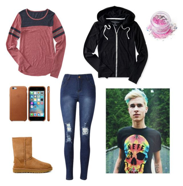 """""""Kian Lawley Imagine  (RTD)"""" by heyitskayden ❤ liked on Polyvore featuring Aéropostale, UGG and In Your Dreams"""