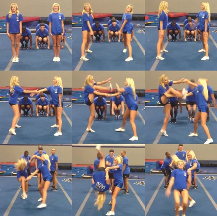 Jamie Andries and Peyton Mabry #cheerleading #cheer #athletics. I know how to do this,I do it with my old flyer:)