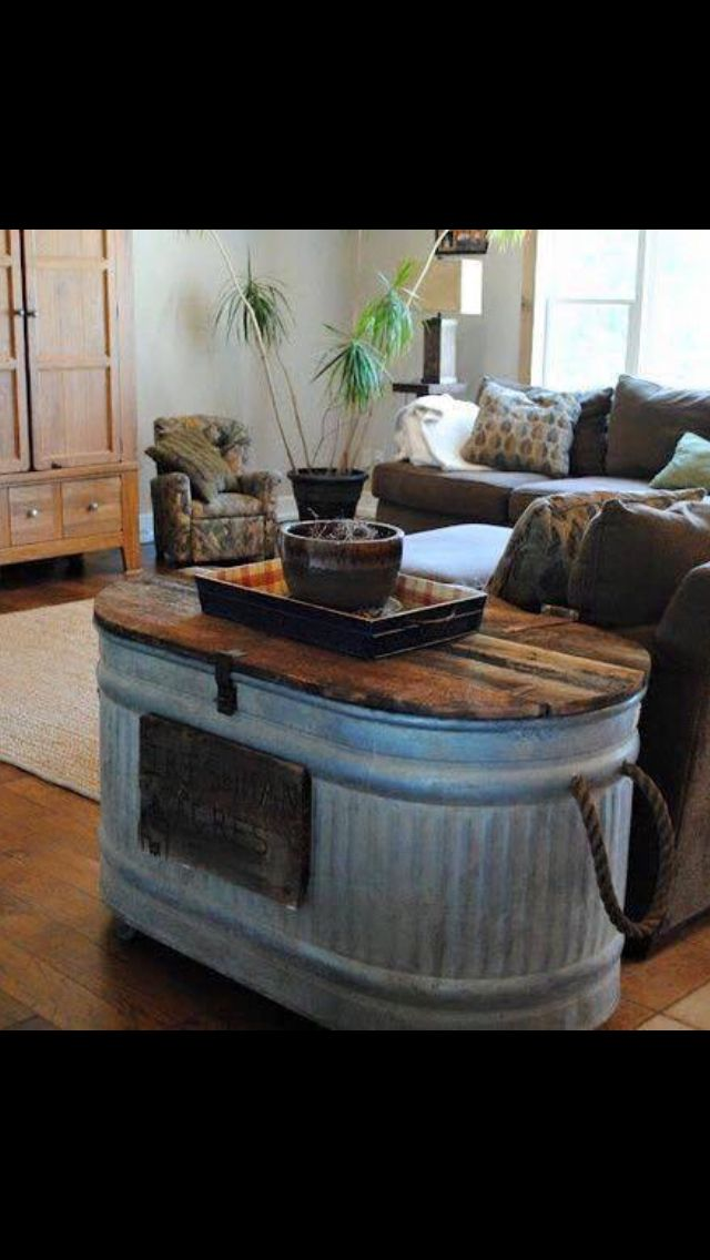 Water Trough Coffee Table Home Decor Furniture Rustic