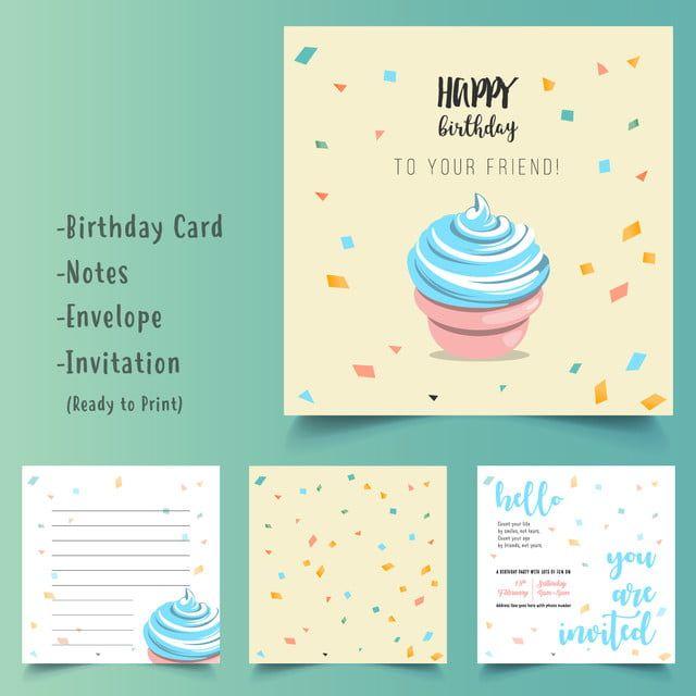 Happy Birthday Cake Card Set Birthday Cake Card Happy Birthday Greeting Card Dog Birthday Card