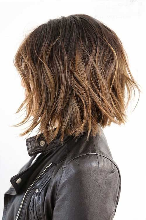 Textured Bob Haircuts with Highlights