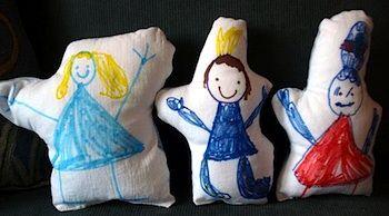 child-made dolls