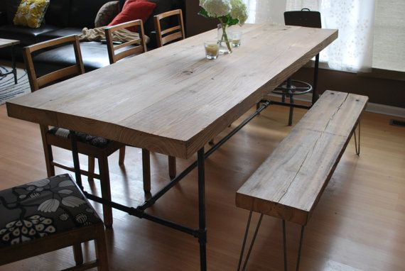 reclaimed wood dining room table (work space)