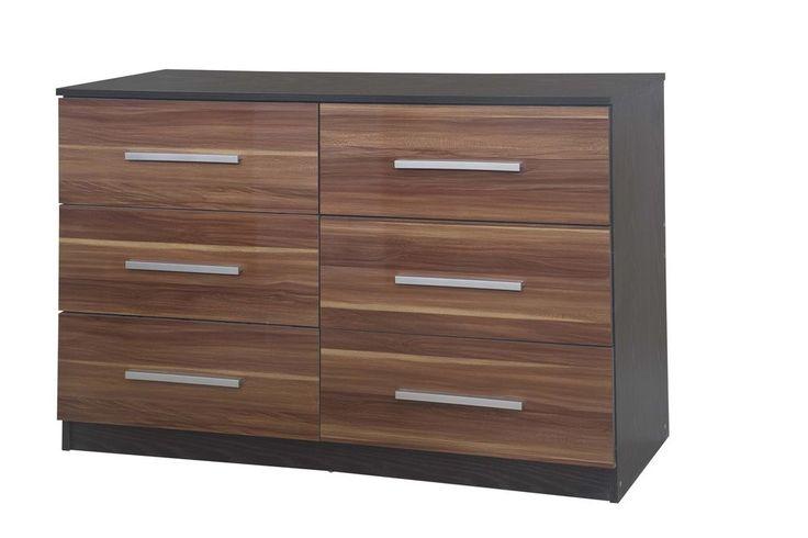 Best £98 99 New High Gloss Walnut Black Oak Large Lotus 6 640 x 480