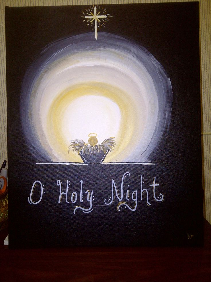 O Holy Night - a Christmas canvas