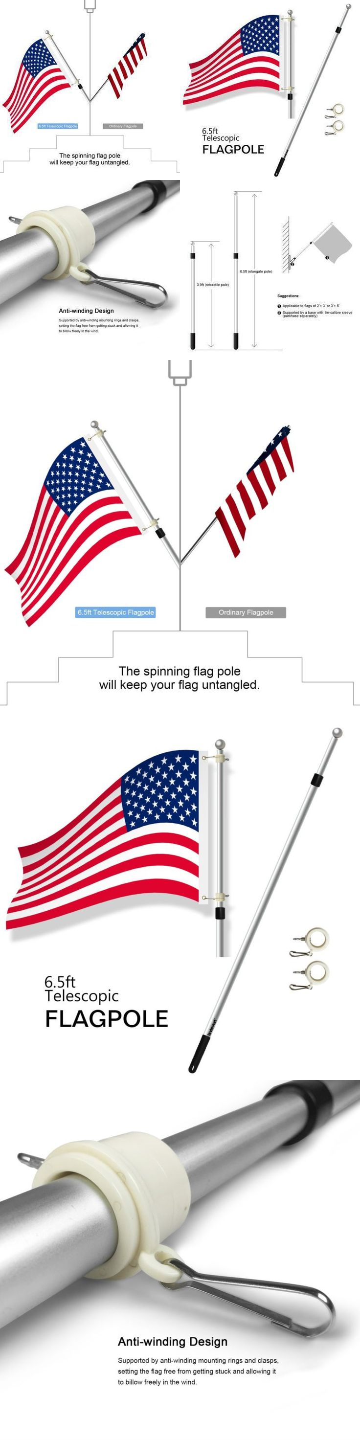Flag Poles and Parts 43536: New 20 Portable Telescopic Flagpole Aluminum Lightweight Tailgate Flag Pole New -> BUY IT NOW ONLY: $32.11 on eBay!