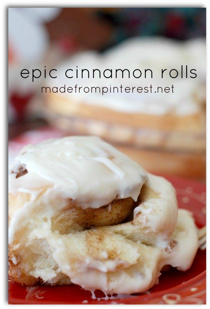 Warm, gooey and cinnamony!  Epic Cinnamon Roll Recipe
