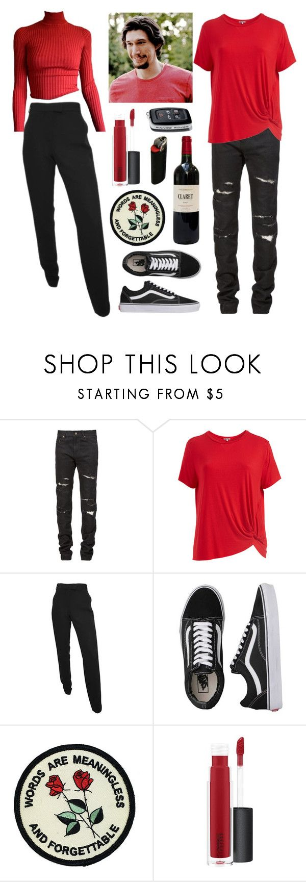 """""""Phillip Altman"""" by kayascodellc ❤ liked on Polyvore featuring Yves Saint Laurent, ADAM, Abito, Ann Demeulemeester, Vans, John Lewis and plus size clothing"""