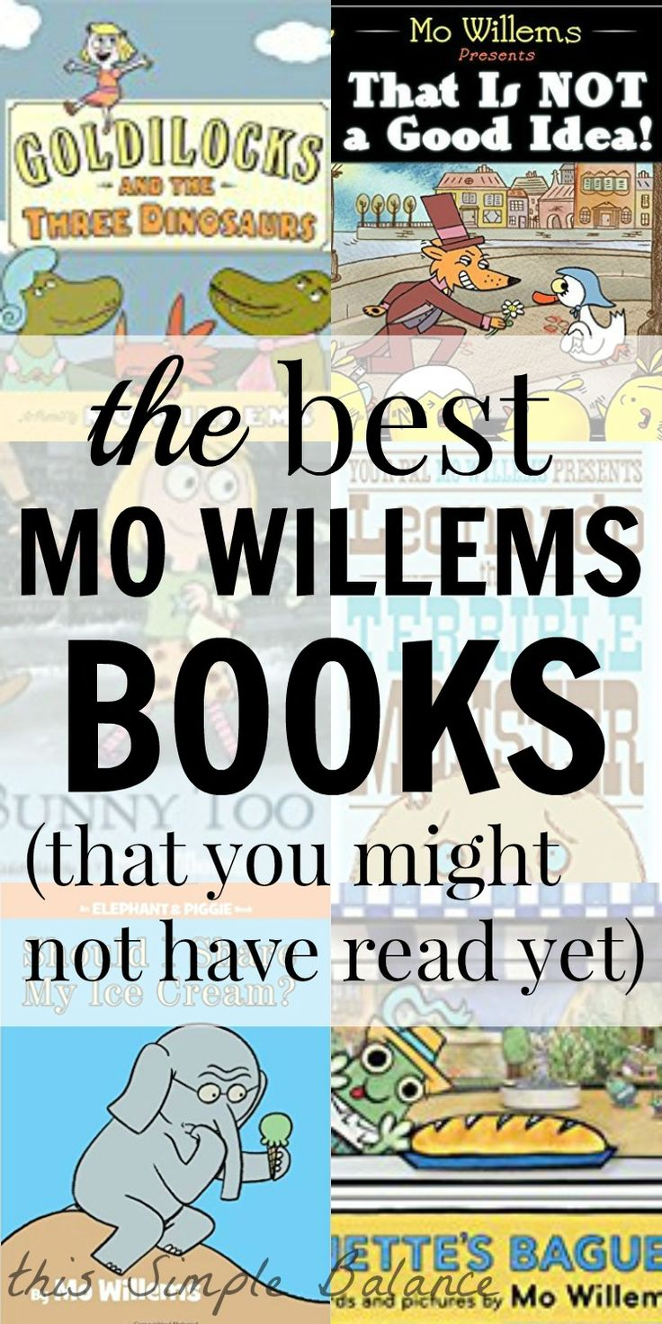Think Elephant and Piggie books are the best Mo Willems has to offer? Some of the best books by Mo Willems are actually not Elephant and Piggie books, though one of them did make the list. Check out our 10 favorite Mo Willems books (and learn about a new one coming), some of which you may not have read yet! Mo Willems' humor, wit, and warmth will entice your struggling and reluctant readers to love reading.