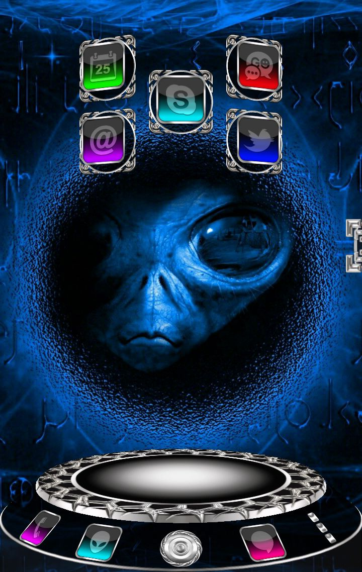 Alien 3D Next Launcher theme for smartphones and tablets on Android